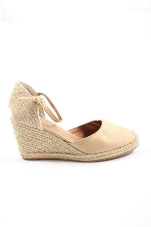 H&M Platform Sandals cream cable stitch casual look