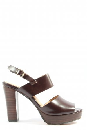 H&M Strapped High-Heeled Sandals brown casual look