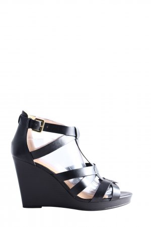 H&M Plateau-Sandalen schwarz Business-Look