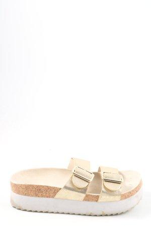 H&M Sandały na platformie złoto W stylu casual