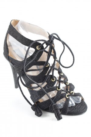 H&M Plateau-Sandalen schwarz-beige Elegant