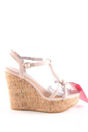H&M Platform High-Heeled Sandal cream-pink elegant