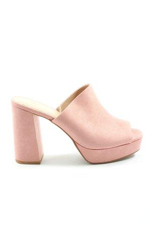 H&M Sandalias de tacón con plataforma rosa look casual