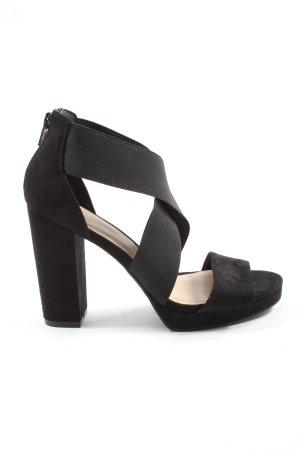H&M Sandały na grubym obcasie czarny Elegancki