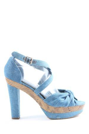 H&M Plateau-Sandaletten blau Casual-Look