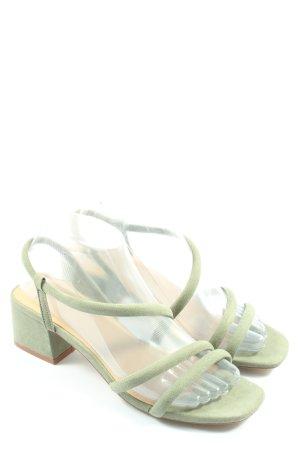 H&M Sandales à talons hauts et lanière vert style décontracté