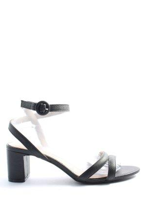 H&M Sandały na grubym obcasie czarny W stylu casual