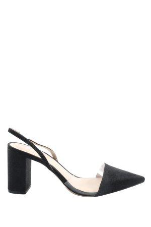 H&M Czółenka ze spiczastym noskiem czarny Elegancki