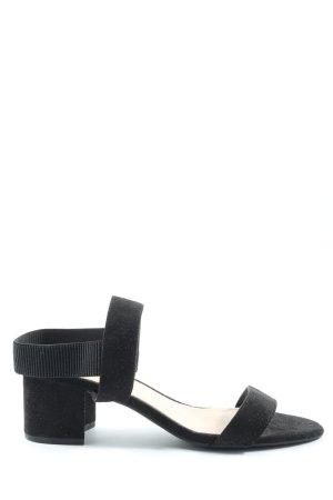 H&M Sandalias de tacón con plataforma negro look casual