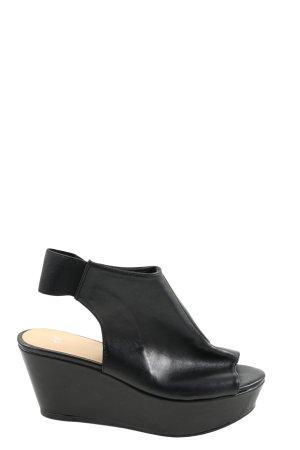 H&M Plateau-Sandaletten schwarz Casual-Look