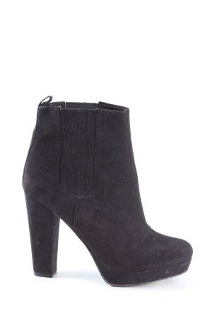 H&M Plateauzool Laarzen zwart zakelijke stijl