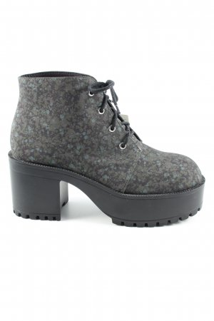 H&M Plateau-Stiefeletten abstraktes Muster Casual-Look