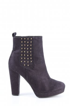 H&M Plateau-Stiefeletten blau Business-Look