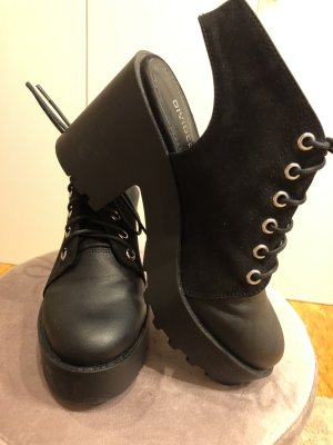 H&M Divided Platform High-Heeled Sandal black-silver-colored