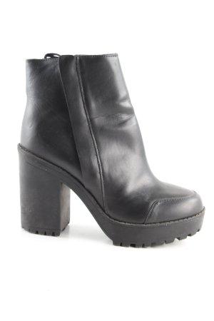 H&M Plateau-Stiefeletten schwarz Casual-Look