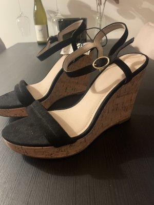 H&M Plateauzool Sandalen met Hoge Hakken zwart
