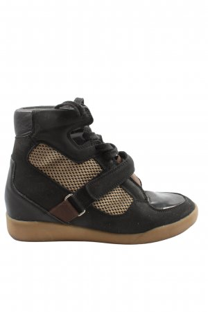 H&M Plateausneaker schwarz-braun Casual-Look