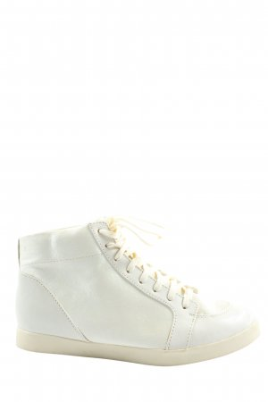 H&M Platform Trainers white casual look