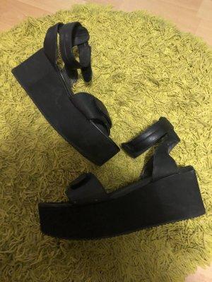 H&M Divided Strapped High-Heeled Sandals black