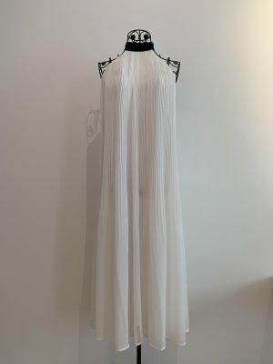 H&M Vestido de cuello Halter blanco-negro