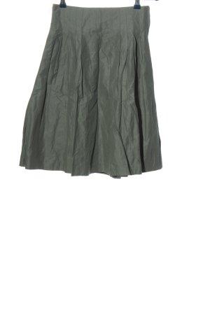 H&M Faltenrock khaki Casual-Look