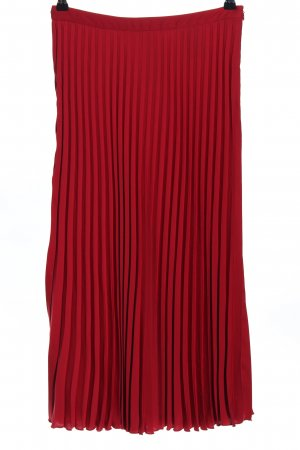 H&M Pleated Skirt red casual look
