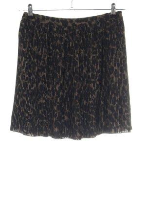 H&M Gonna pieghettata nero-marrone stampa integrale stile casual