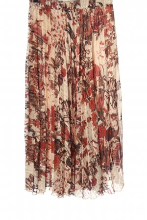 H&M Pleated Skirt abstract pattern casual look