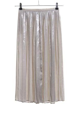 H&M Jupe plissée argenté style décontracté