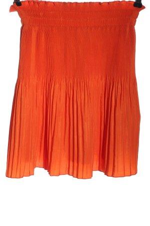H&M Plisowana spódnica jasny pomarańczowy Elegancki
