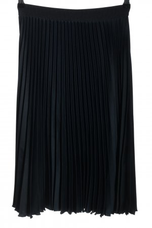 H&M Plisseerock schwarz Casual-Look