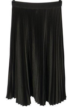 H&M Plisseerock hellgrau Elegant
