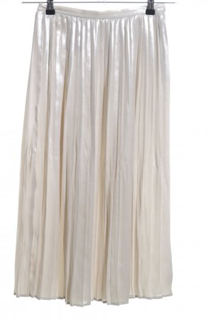 H&M Pleated Skirt cream casual look