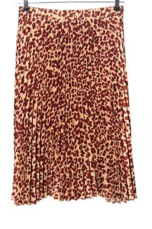 H&M Jupe plissée rouge-blanc cassé imprimé allover style décontracté
