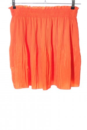 H&M Pleated Skirt light orange casual look