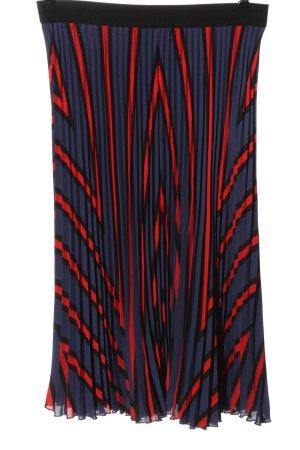 H&M Jupe plissée bleu-rouge motif rayé style décontracté