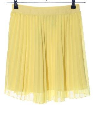 H&M Jupe plissée jaune primevère style décontracté
