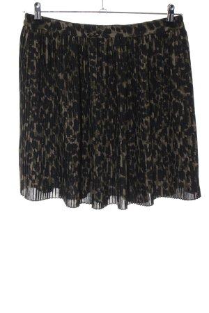 H&M Gonna pieghettata nero-bronzo motivo astratto stile casual