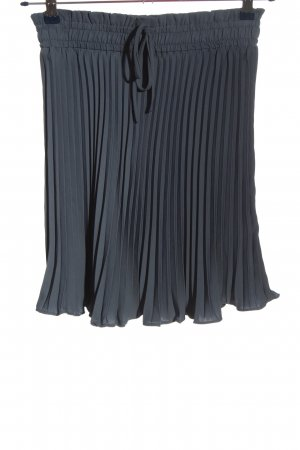 H&M Plisseerock blau Casual-Look