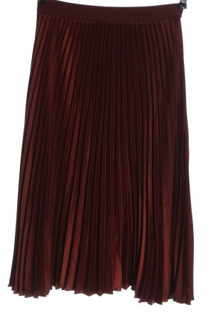 H&M Pleated Skirt brown casual look