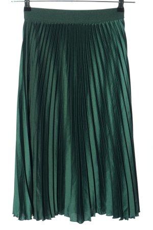H&M Plisseerock grün Casual-Look