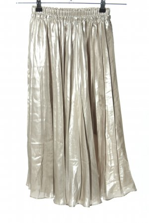 H&M Pleated Skirt silver-colored casual look