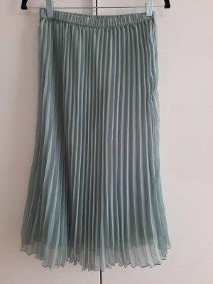 H&M Plisowana spódnica szaro-zielony