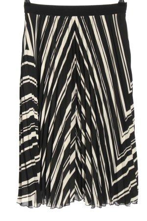 H&M Plisseerock schwarz-weiß Allover-Druck Casual-Look