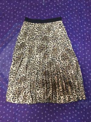 H&M Plisowana spódnica czarny-jasnobrązowy