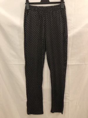 H&M Pantalón estilo Harem negro-blanco
