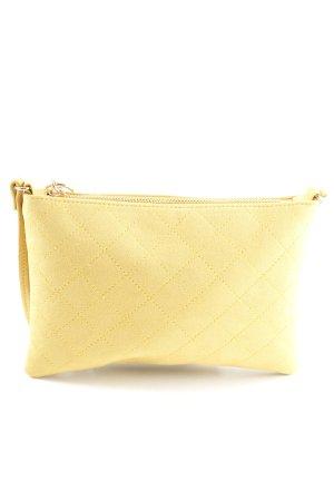 H&M Sac de soirée jaune primevère motif de courtepointe style décontracté
