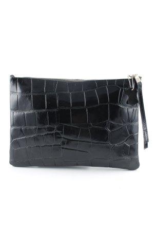 H&M Pochette schwarz Animalmuster Elegant