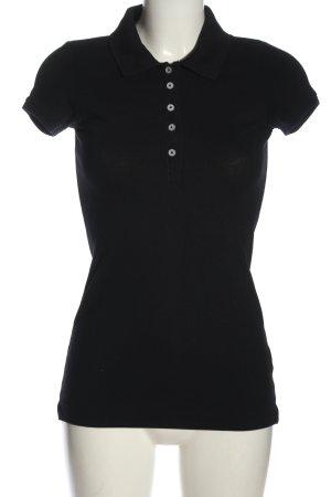 H&M Camiseta tipo polo negro look casual