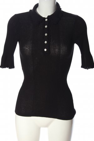 H&M Polo-Shirt schwarz Casual-Look